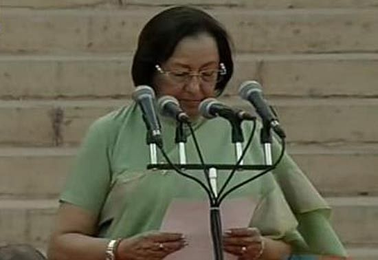 Nejma Heptullah, newly appointed Minister for Minority Affairs