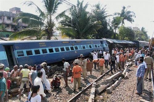 Four die as train derails in Bihar, sabotage denied