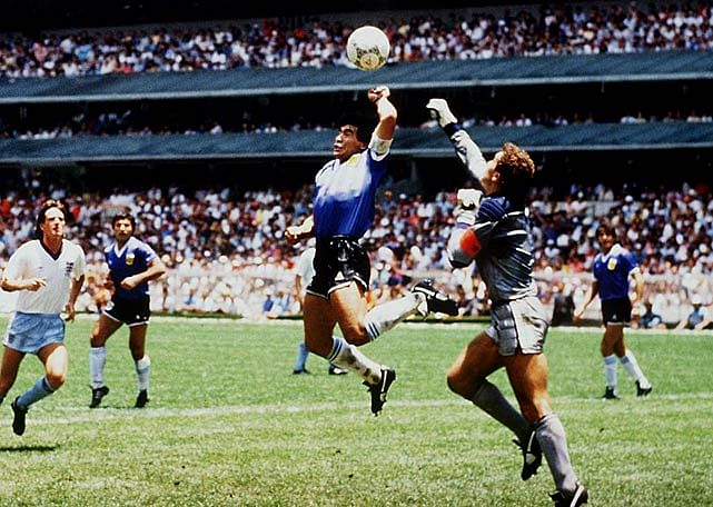 'Infamous Hand of God' by Diego Maradona