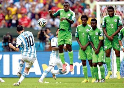 Messi, 3 games, 4 Goals, 3 Man of The Match