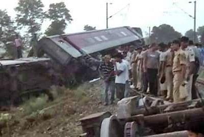 Delhi-Dibrugarh Rajdhani Express derailed