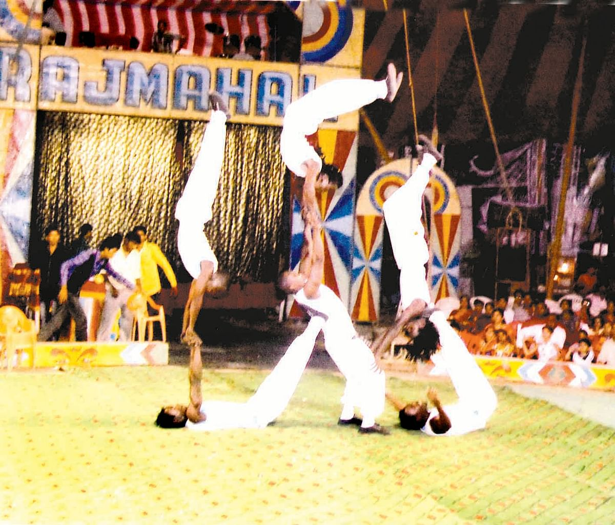 Circus stunts enthrall audience