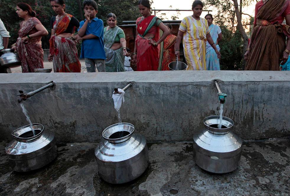 Authorised water for illegal slums?