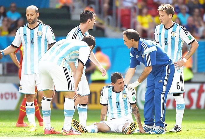 Di Maria injury a big scare for Argentina
