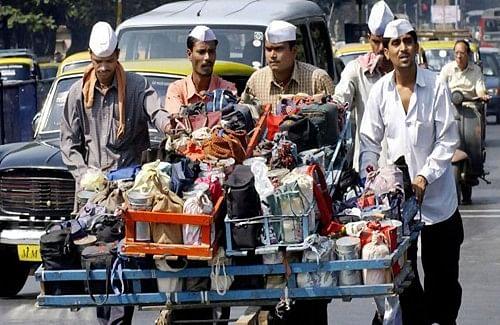 Mumbai Dabbawala members meet people in Bhendi Bazaar post Ayodhya verdict Mumbai.
