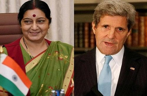 John Kerry, Sushma Swaraj