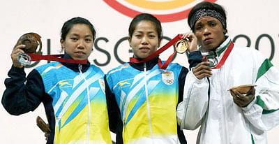 Sanjita wins India's first gold