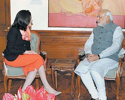Modi: Face to face with Facebook's Sandberg