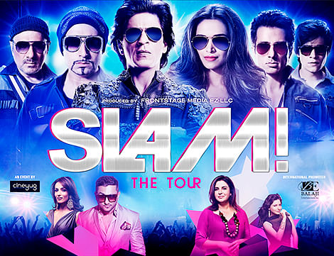 SRK gears up for  SLAM! THE TOUR