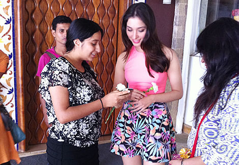 When Tamannaah's young fan waited  for 5 hours