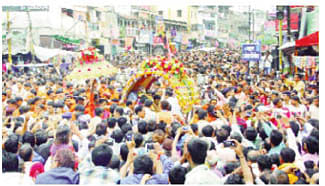 Lord Mahakal's second procession taken out with fanfare