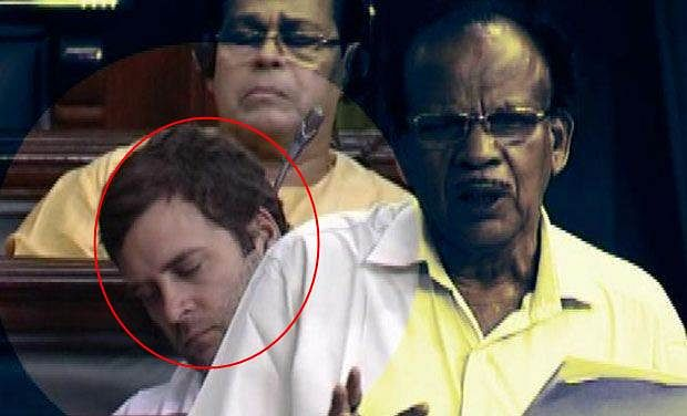 Footages of Rahul with eyes shut in LS goes viral on social media