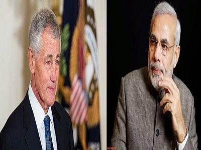 Hagel in India to meet Modi, boost defence, strategic ties