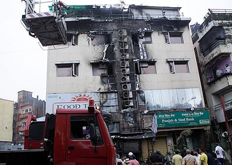 This time, fire in a Vashi hotel