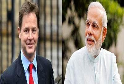 Nick Clegg, Narendra Modi