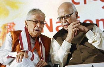 Advani, Joshi put in old age home by BJP: Cong