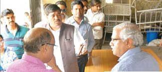 Collector Kiyawat conducts inspection of rural areas