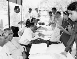 Voter list name changing camp organized
