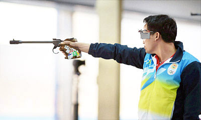 Jitu Rai finishes sixth in ISSF World Cup