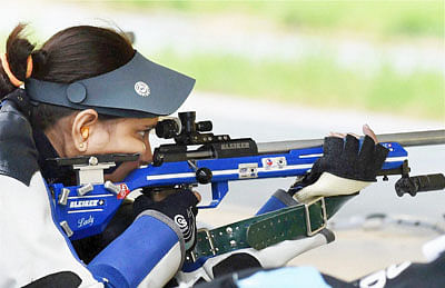 Indian shooters fire blank