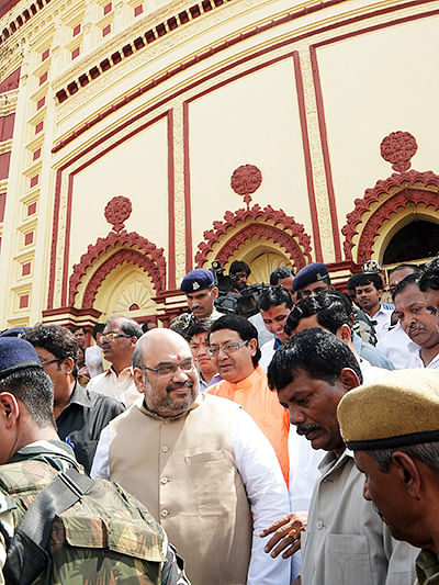 Amit Shah says time up for scam-tainted Mamata