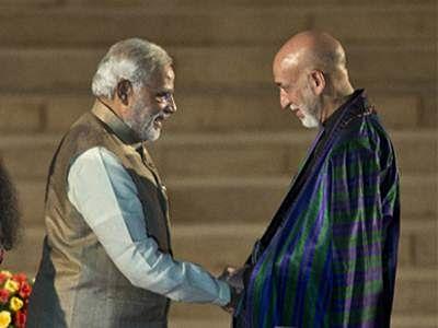 Narendra Modi, Hamid Karzai