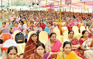 CM attends bhoomi pujans, inaugurations worth `46 cr