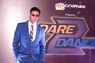 Akshay raps live at 'Dare 2 Dance' launch