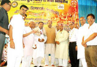Education Minister flags off Sammed Shikhar Mahayatra