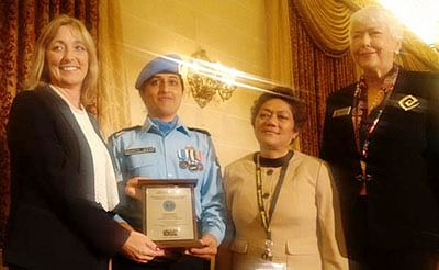 Indian cop wins UN award