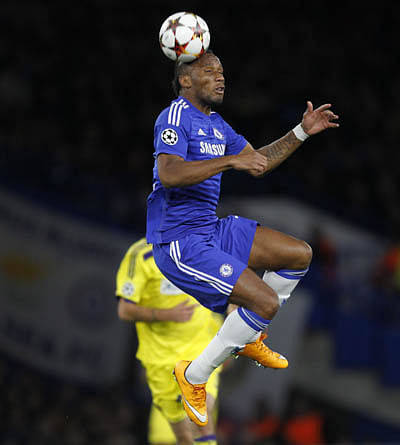 Drogba on target in Chelsea rout of Maribor