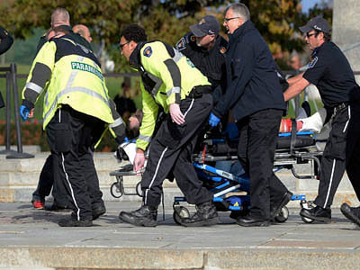 Multiple gun attack in Canadian Parliament
