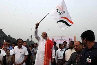 PM flags off Run for Unity on Sardar Patel's birth anniversary