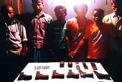 Six ULFA militants nabbed in Meghalaya