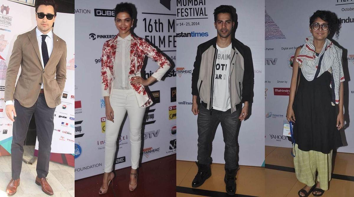 Imran Khan, Deepika Padukone, Varun Dhawan and Kiran Rao at 16th Mumbai Film Festival Day 2…