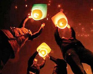 Sky lanterns this Sunday