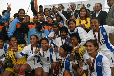 Eves give India a SAFF hat-trick
