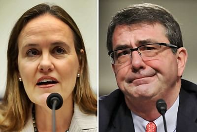 Two ex-Pentagon officials in running to succeed Chuck Hagel