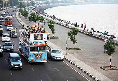 The MTDC on Saturday launched its 'open deck buses' for people wanting to take a darshan of Marine Drive and other tourist spots of Maximum City