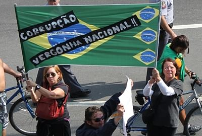 Thousands march in Brazil against Rousseff, corruption