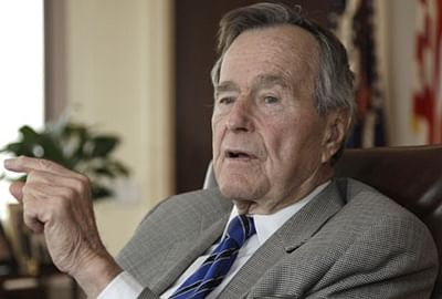 Sr Bush spends another night in hospital