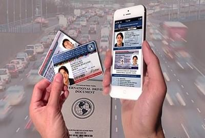 Show your driving license on smartphone soon
