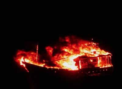 Mystery boat explodes after chase in high sea