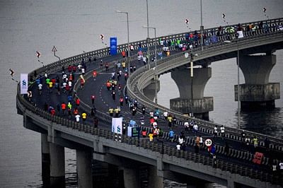 Change in half marathon route in Mumbai race