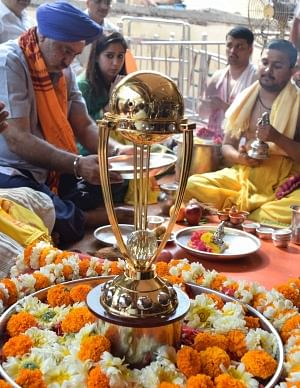 Indian cricket fans arranged a special pooja for India's victory