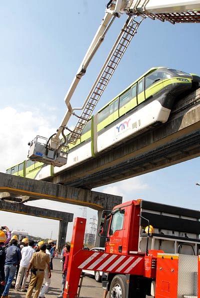 Monorail's trial  run successful