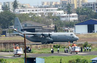 Cyclone Vayu: IAF C-17 aircraft lands at Jamnagar with NDRF team