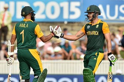 World Cup 2015, Ireland v South Africa: Amla and du Plessis give Proteas massive score