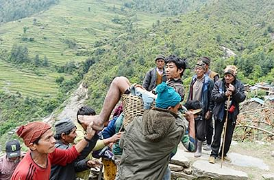 Rescuers struggle to deliver aid in remote areas of Nepal
