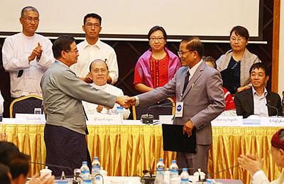 Myanmar govt, rebels  sign draft ceasefire deal